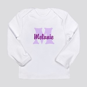 CUSTOM Lilac Purple Monogram Long Sleeve T-Shirt