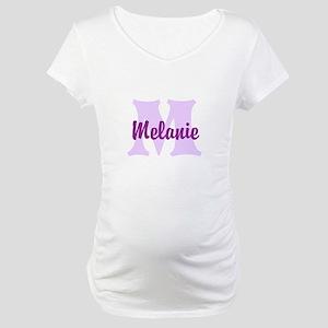 CUSTOM Lilac Purple Monogram Maternity T-Shirt