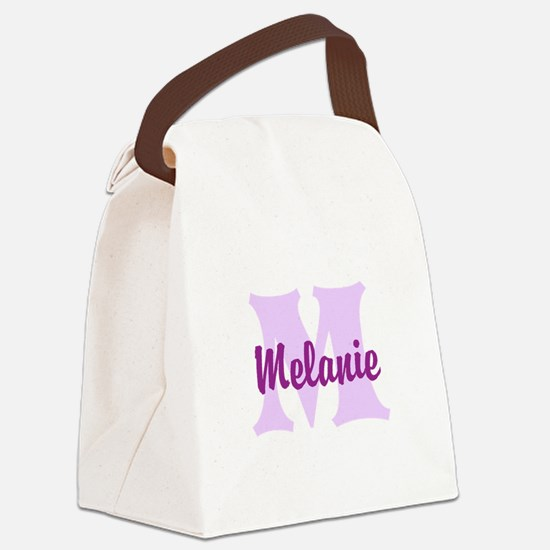 CUSTOM Lilac Purple Monogram Canvas Lunch Bag