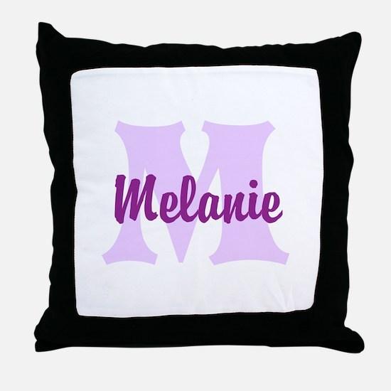 CUSTOM Lilac Purple Monogram Throw Pillow