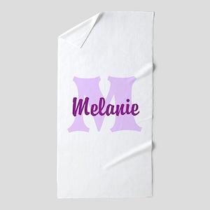 CUSTOM Lilac Purple Monogram Beach Towel