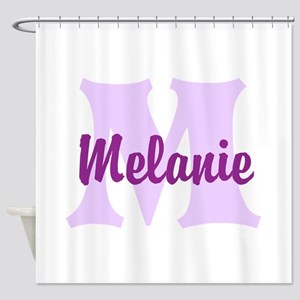 CUSTOM Lilac Purple Monogram Shower Curtain