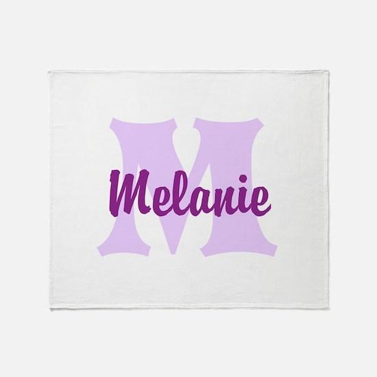CUSTOM Lilac Purple Monogram Throw Blanket