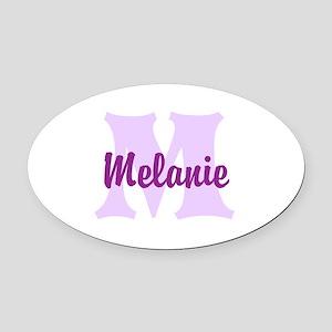 CUSTOM Lilac Purple Monogram Oval Car Magnet