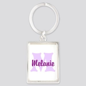 CUSTOM Lilac Purple Monogram Keychains