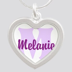CUSTOM Lilac Purple Monogram Necklaces