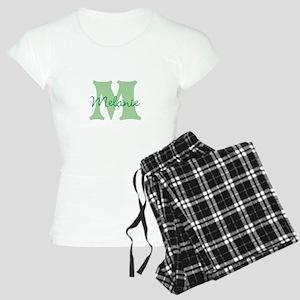 CUSTOM Green Monogram Pajamas