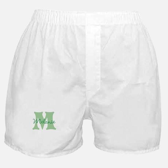 CUSTOM Green Monogram Boxer Shorts