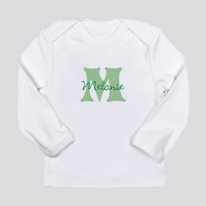 CUSTOM Green Monogram Long Sleeve T-Shirt