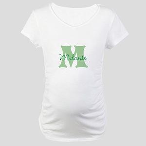 CUSTOM Green Monogram Maternity T-Shirt