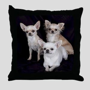 Adorable Chihuahuas Throw Pillow