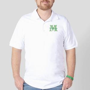 CUSTOM Green Monogram Golf Shirt