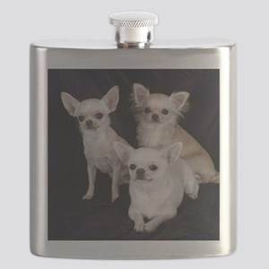 Adorable Chihuahuas Flask
