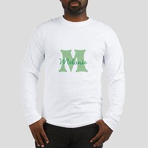 CUSTOM Green Monogram Long Sleeve T-Shirt