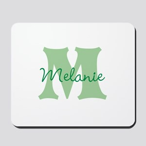 CUSTOM Green Monogram Mousepad