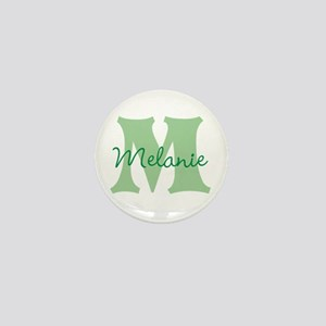 CUSTOM Green Monogram Mini Button