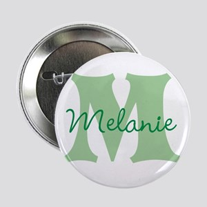 "CUSTOM Green Monogram 2.25"" Button"