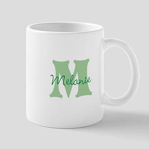 CUSTOM Green Monogram Mugs
