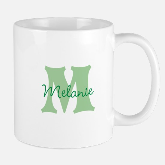 CUSTOM Green Monogram Mugs