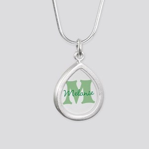 CUSTOM Green Monogram Necklaces