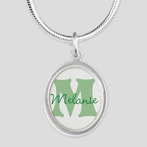CUSTOM Green Monogram Necklaces