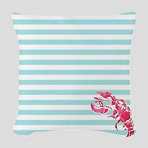 Preppy Lobstah Woven Throw Pillow