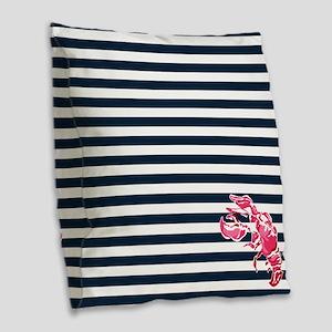 Preppy Lobstah Burlap Throw Pillow