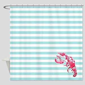 Preppy Lobstah Shower Curtain