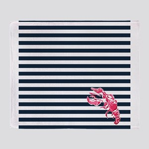 Preppy Lobstah Throw Blanket