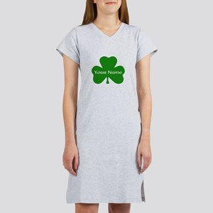 CUSTOM Shamrock with Your Name Women's Nightshirt