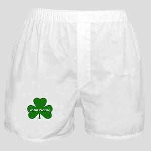 CUSTOM Shamrock with Your Name Boxer Shorts