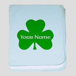 CUSTOM Shamrock with Your Name baby blanket