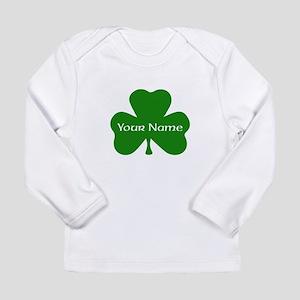 CUSTOM Shamrock with Your Name Long Sleeve T-Shirt