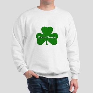 CUSTOM Shamrock with Your Name Sweatshirt