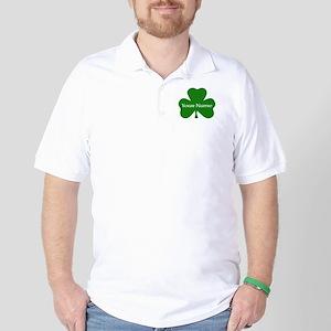 CUSTOM Shamrock with Your Name Golf Shirt