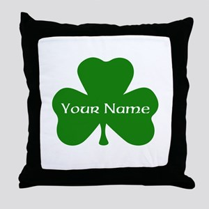CUSTOM Shamrock with Your Name Throw Pillow