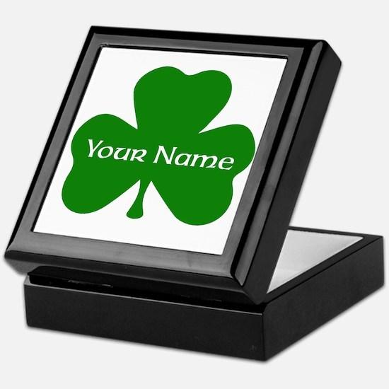 CUSTOM Shamrock with Your Name Keepsake Box