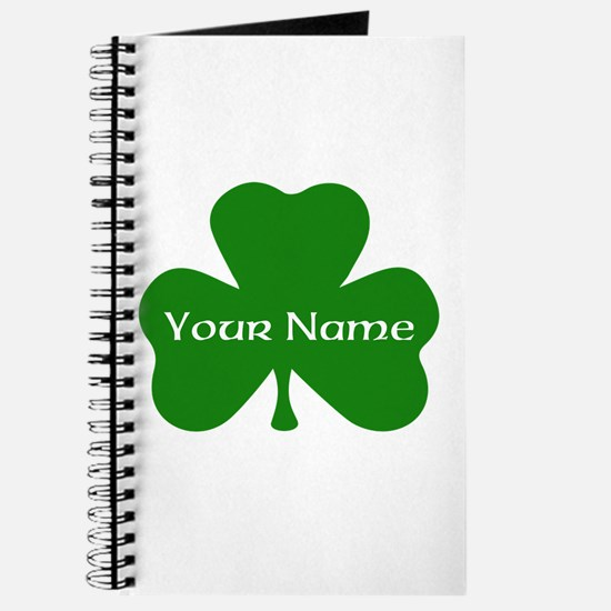 CUSTOM Shamrock with Your Name Journal