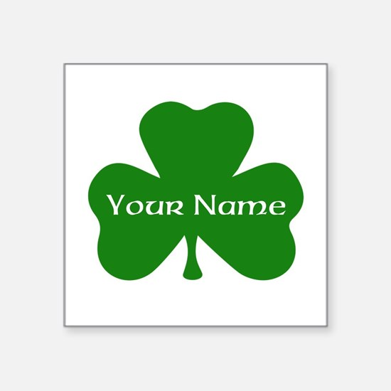 CUSTOM Shamrock with Your Name Sticker