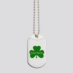 CUSTOM Shamrock with Your Name Dog Tags