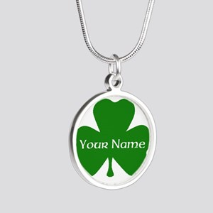 CUSTOM Shamrock with Your Name Necklaces