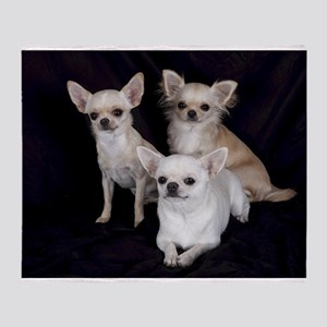 Adorable Chihuahuas Throw Blanket
