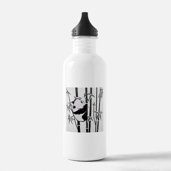panda and bamboo Water Bottle