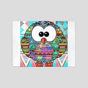 owl aztec 5'x7'Area Rug