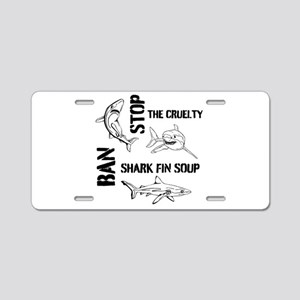 Stop The Cruelty Aluminum License Plate