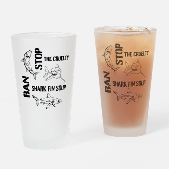 Stop The Cruelty Drinking Glass