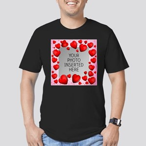 Give a Little Love Men's Fitted T-Shirt (dark)
