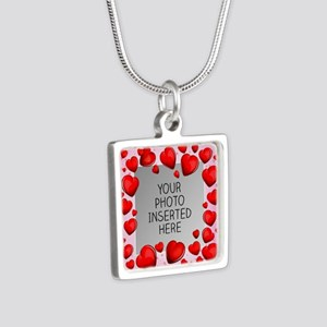 Give a Little Love Silver Square Necklace