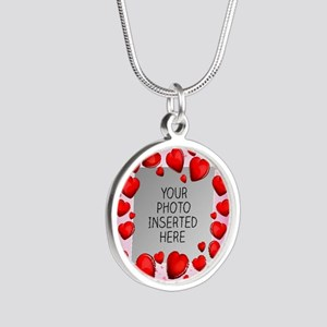 Give a Little Love Silver Round Necklace