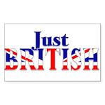 Just British Logo, Large Sticker